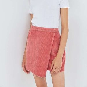 Urban Outfitters BDG Corduroy Wrap Skirt Pink